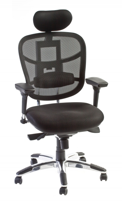 Beau UBISE OFFICEPRO, Your Supplier Of Office Chairs, Seats And Accessories    TECKNET   SYNCHRONOUS OFFICE CHAIR IN MESH WITH HEADREST
